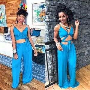 Pants - Turquoise Two Piece